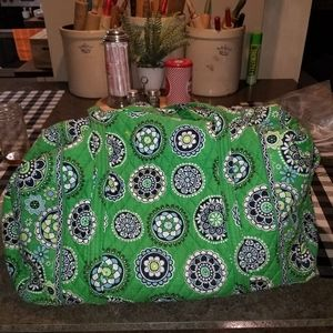 Huge Vera Bradley Green Cupcake Duffle Bag